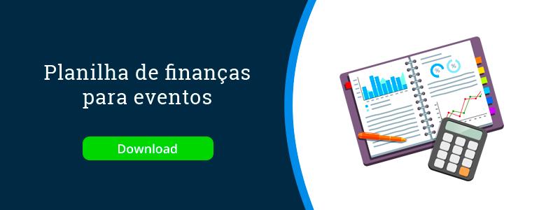 sistema de eventos: planilha de finanças