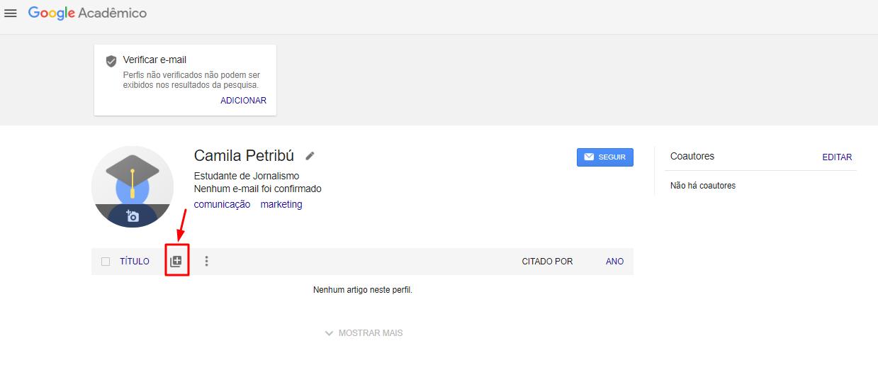 Google scholar e sua importncia para pesquisadores 3 clique em adicionar artigo manualmente stopboris Choice Image