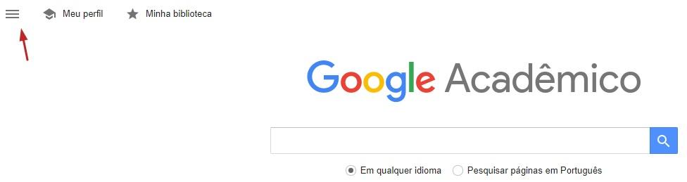menu google academico