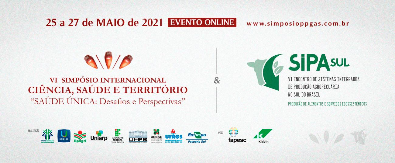 Exemplo de capa de evento: Simpósio Internacional